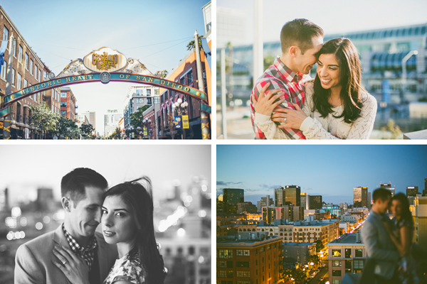 Gas Lamp Engagement Photos