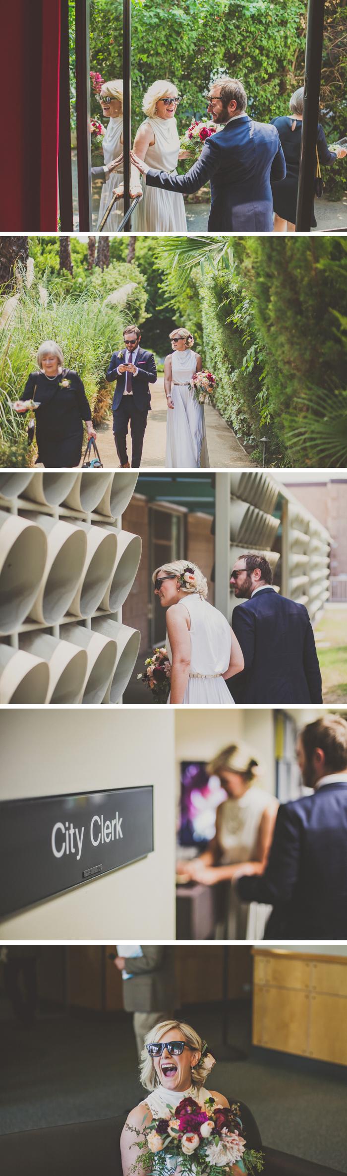 Palm Springs City Hall Wedding Photos