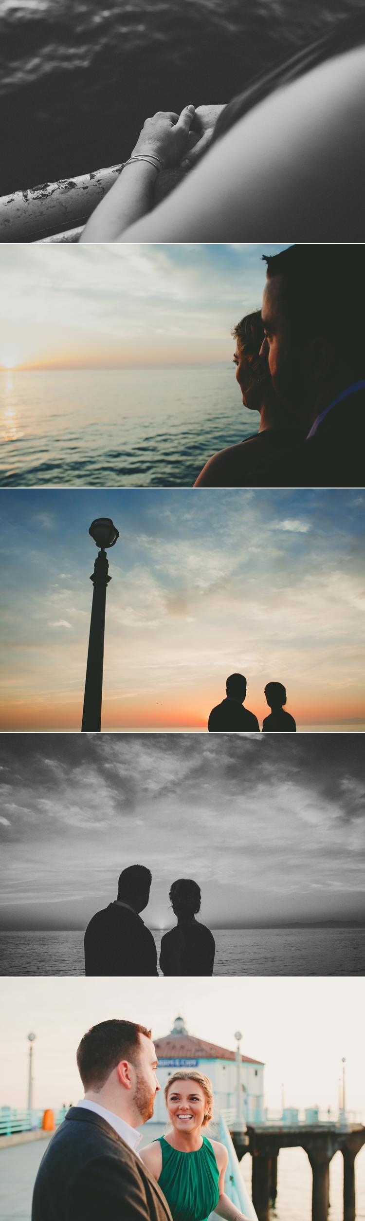 Manhattan Beach Pier Engagement Photos